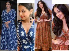 vidya balan in printed maxi dresses