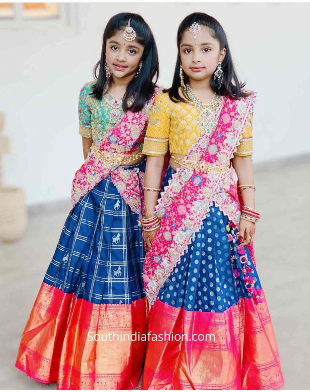 viranica manchu daughters pattu half sarees