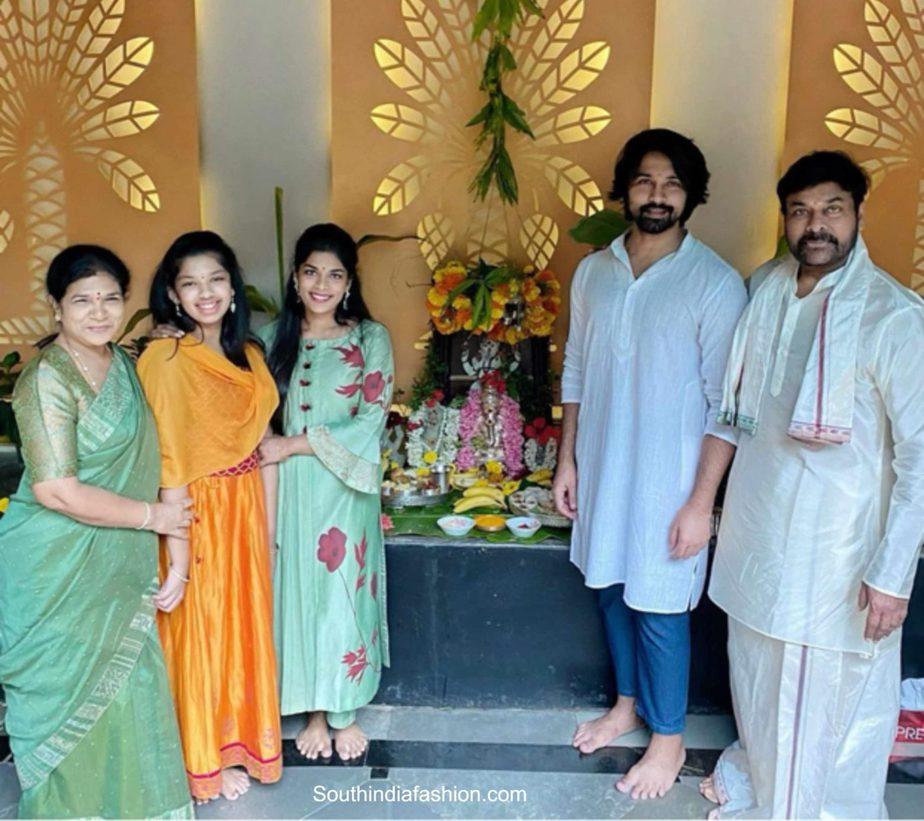 chiranjeevi family ganesh chaturthi (2)