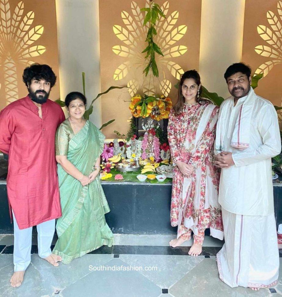 chiranjeevi family ganesh chaturthi