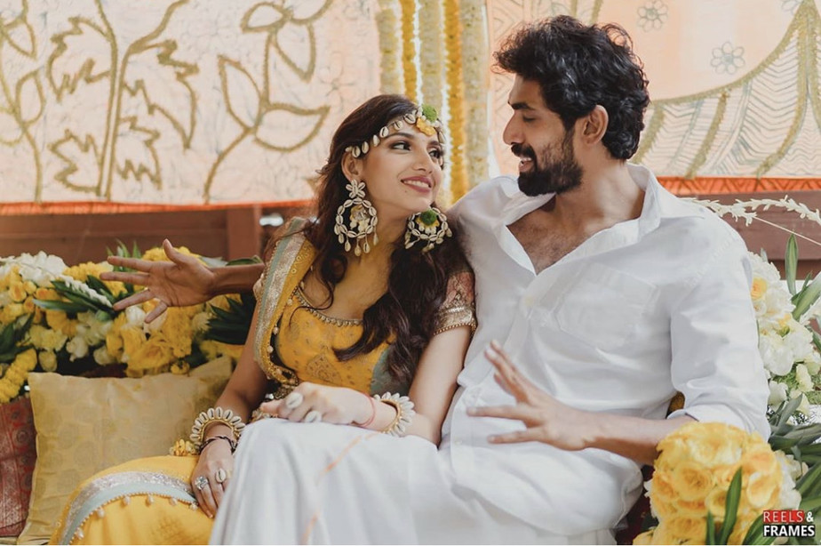 Rana and Miheeka Haldi Day