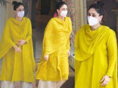 kareena kapoor in yellow kurta set rakhi