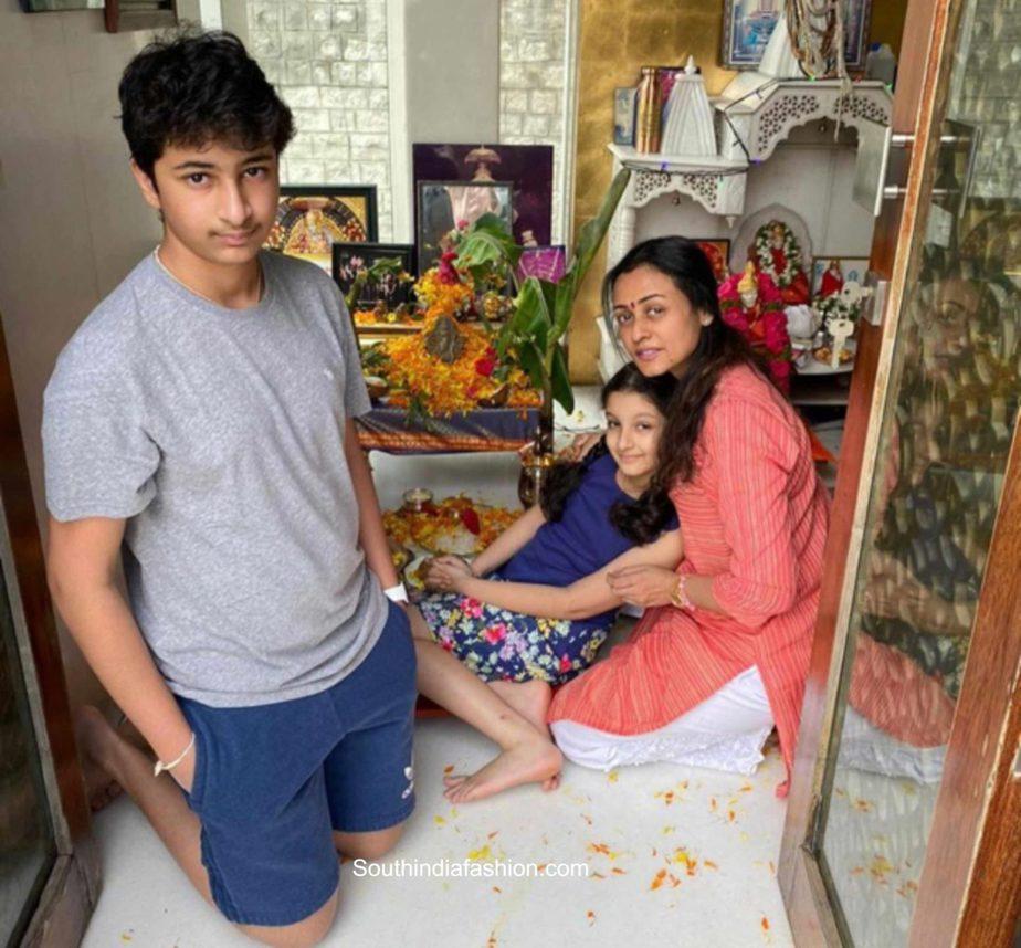 mahesh babu family ganesh puja 2020