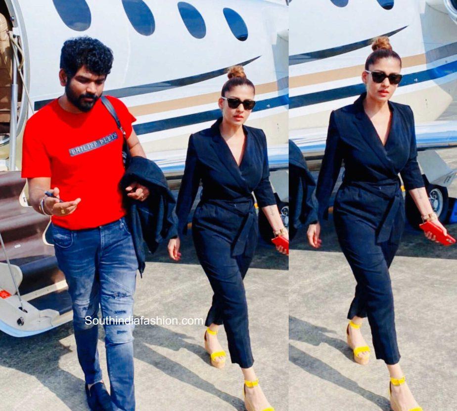 nayanthara airport look