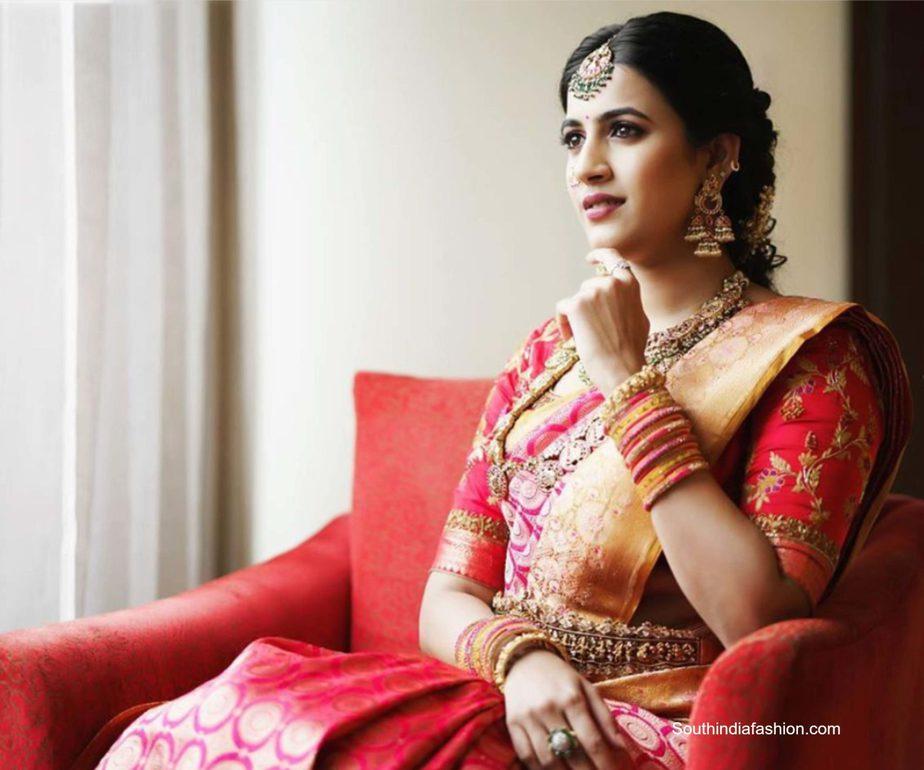 niharika konidela kanjeevaram saree engagement (1)