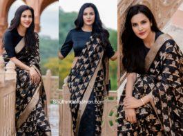 priya anand black silk saree by raw mango (1)
