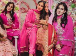 sara ali khan pink kurta set