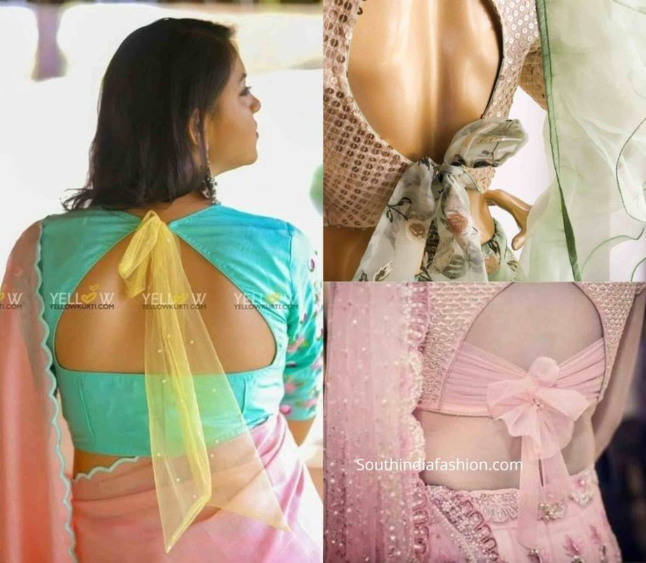 saree blouse with bow back (3)
