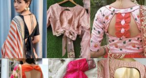 saree blouse with bow on the back 2020