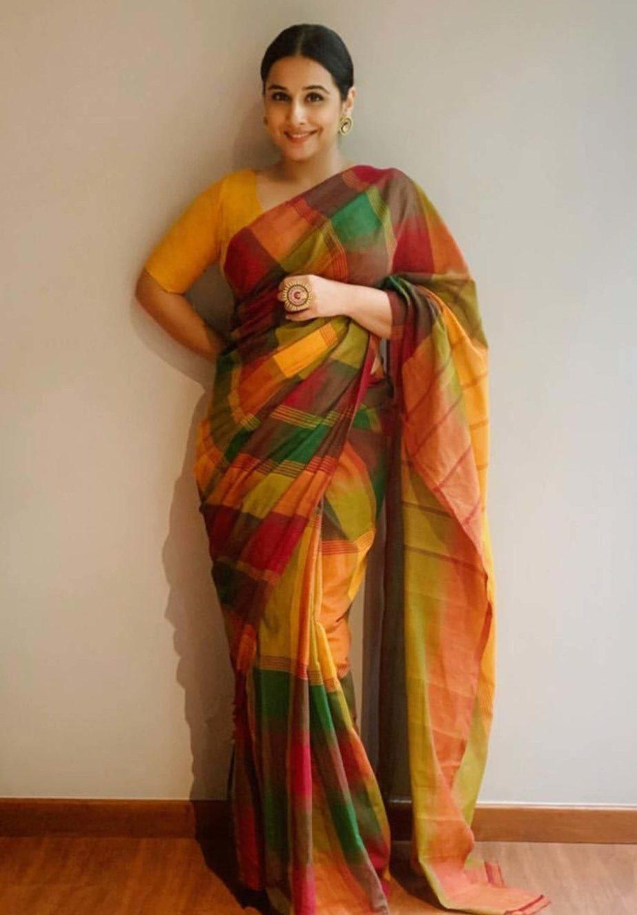 vidya balan chettinad saree