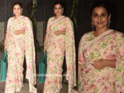 vidya balan floral print saree