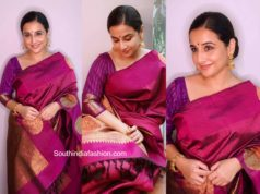 vidya balan pink silk saree independence day (2)