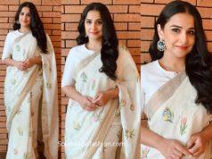 vidya balan saree shakuntala devi promotions