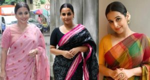 vidya balan sarees shakuntala devi promotions