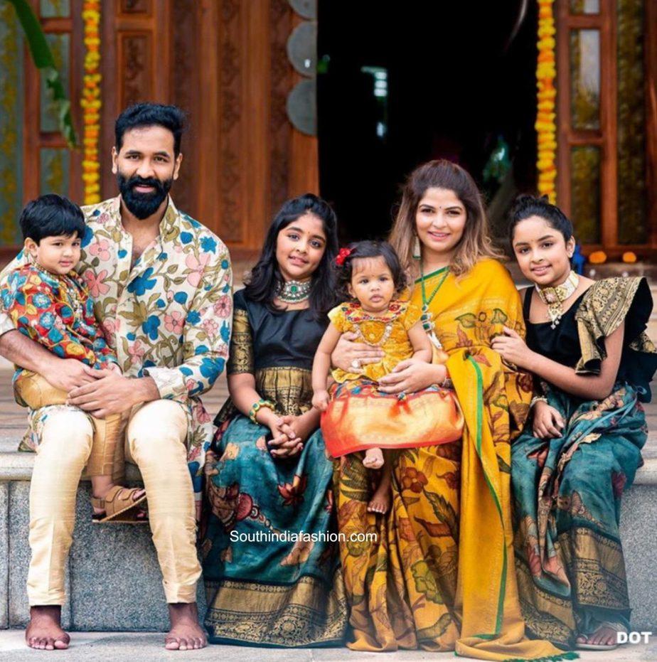 vishnu manchu family vinayaka chaviti 2020 photos