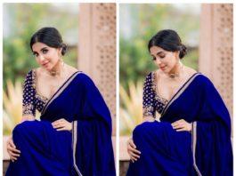 Parvati in Blue Saree