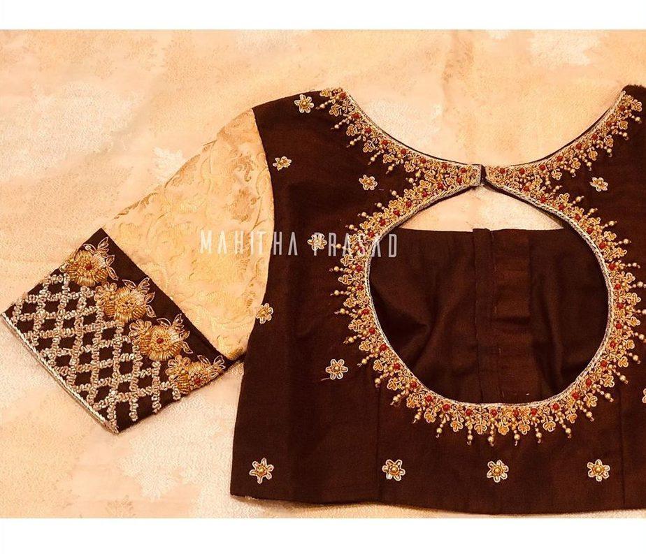 silk saree blouse designs 2020