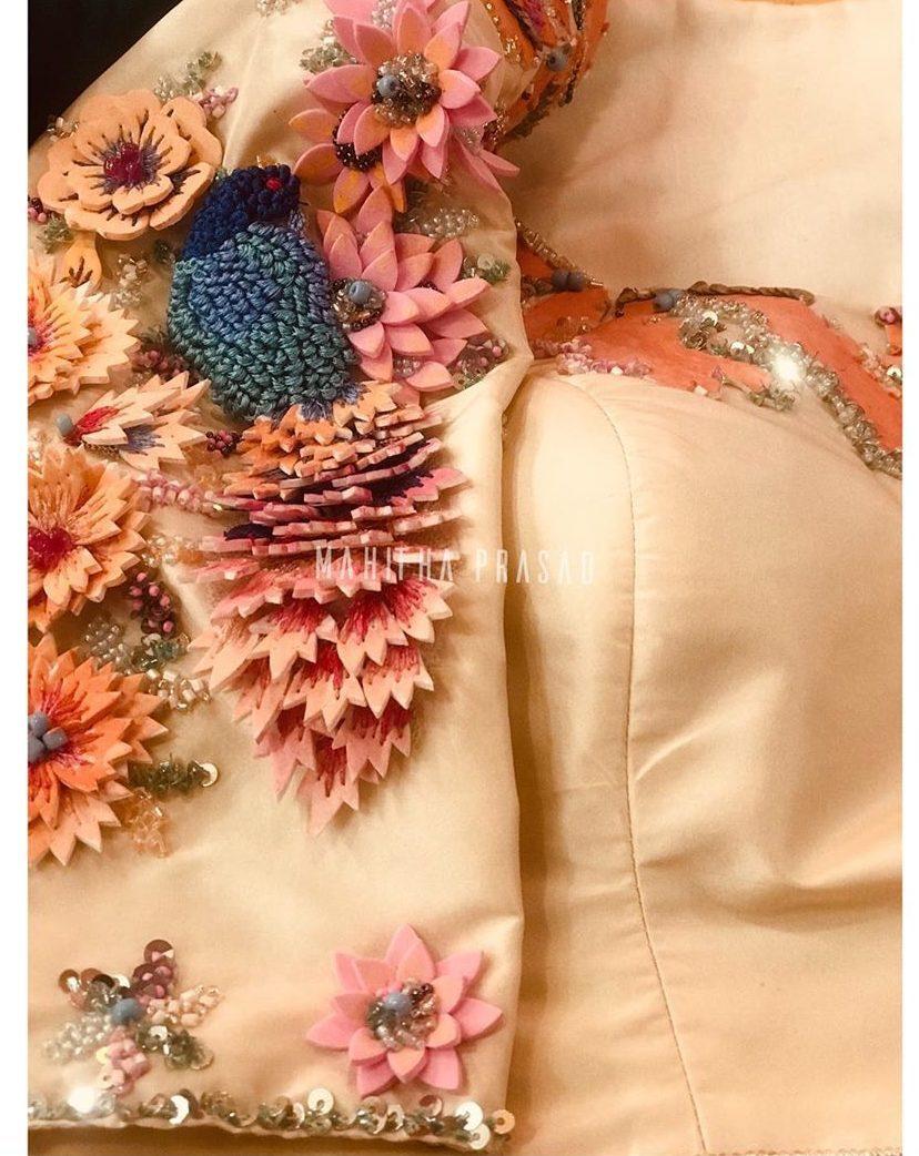 3d floral blouse