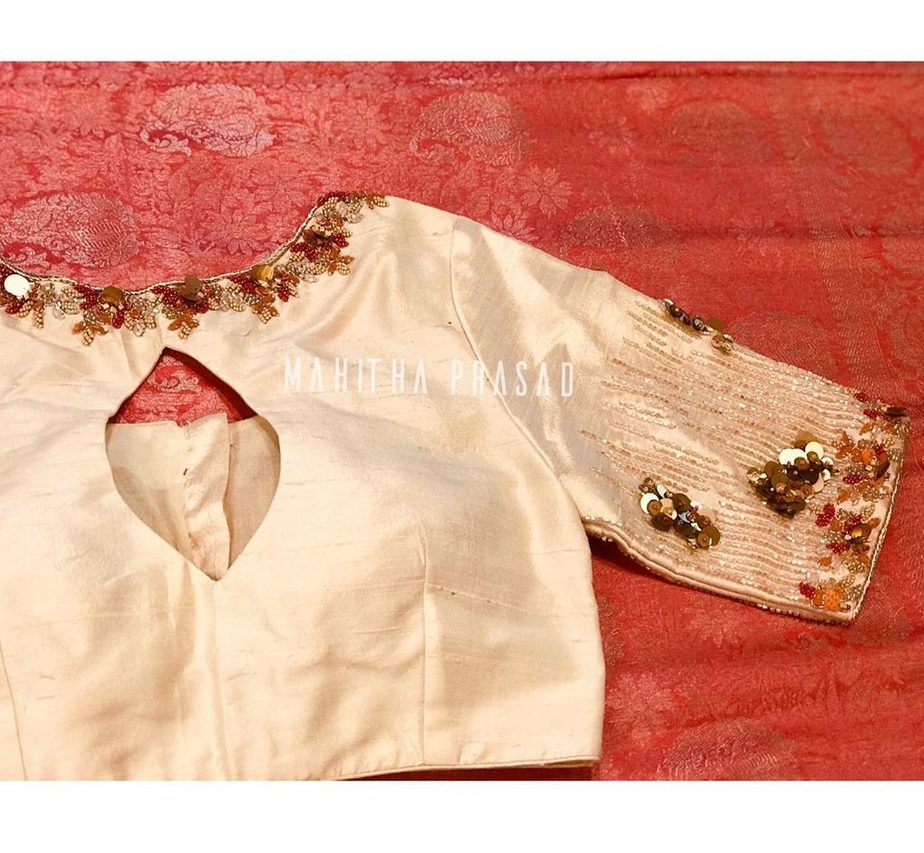 sequin blouse for silk sarees