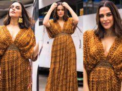 Neha Dhupia in maxi dress