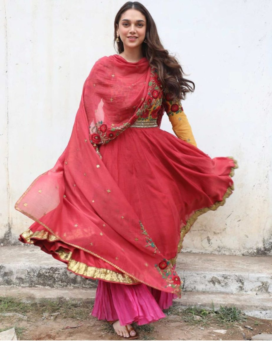 aditi rao hydari v movie red anarkali suit