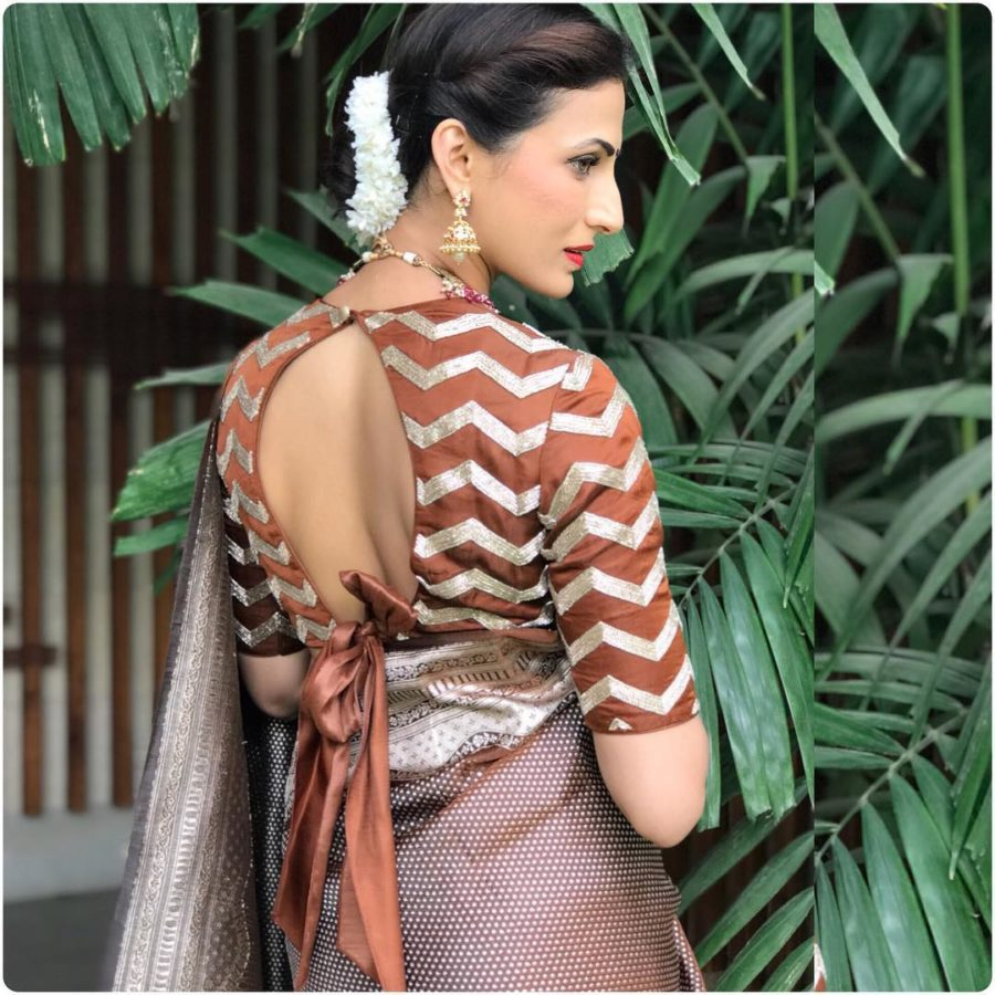 bow back saree blouse designs (1)