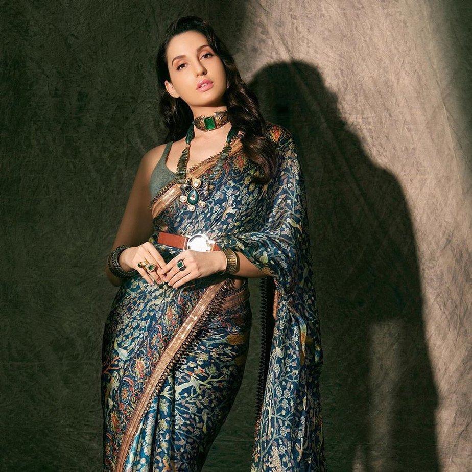 nora fatehi in jj valaya saree (2)