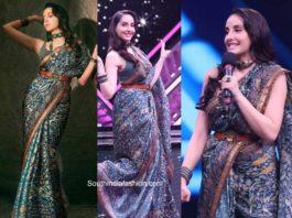 nora fatehi saree india's best dancer tv show