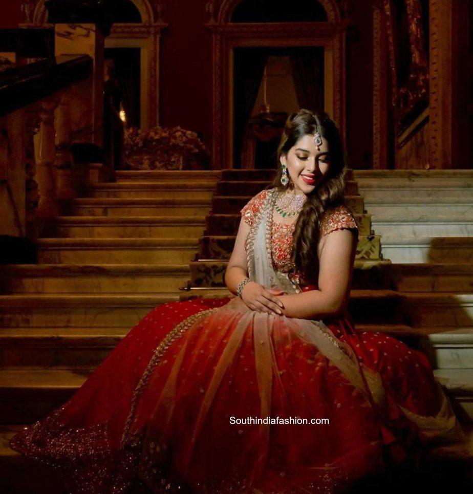 producer nikitha reddy and her daughter aadya at nithin wedding (2)