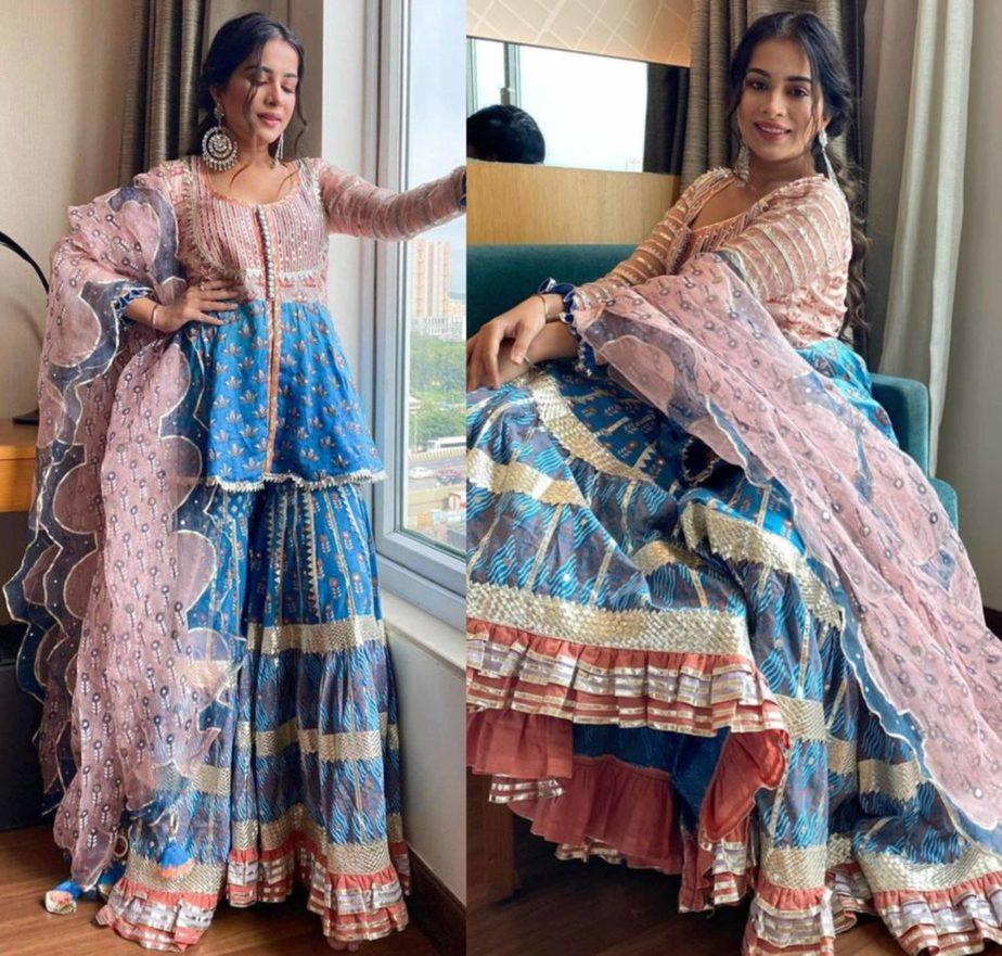 sara gurpal in mayeera jaipur sharara suit (1)