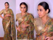 vidya balan kalamkari print saree (2)