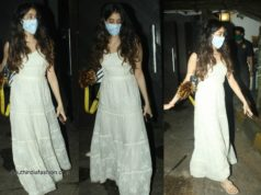 Janhvi Kapoor in white maxi dress