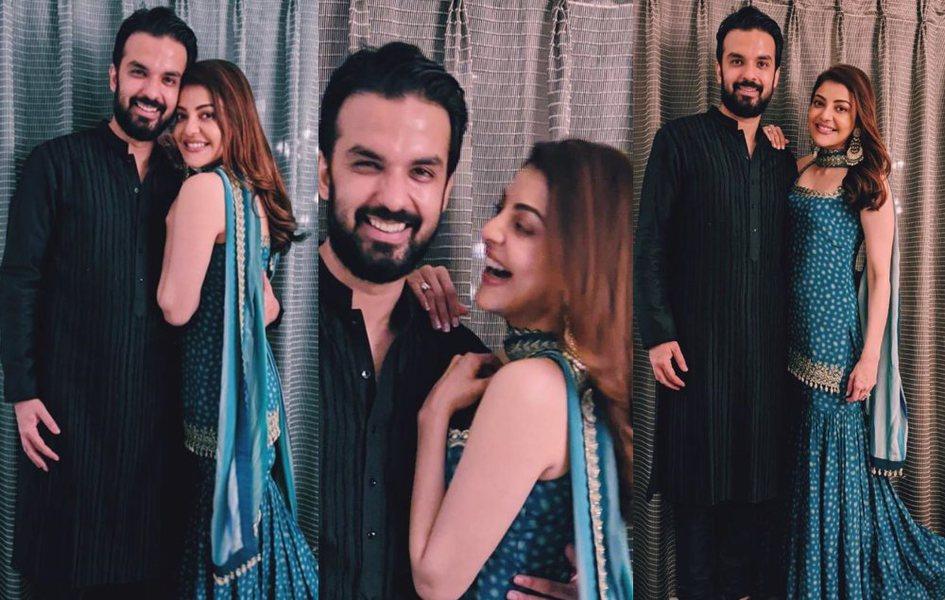 Kajal Aggarwal with her husband