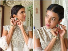 Lakshmi Manchu in an off-white Anarkali1