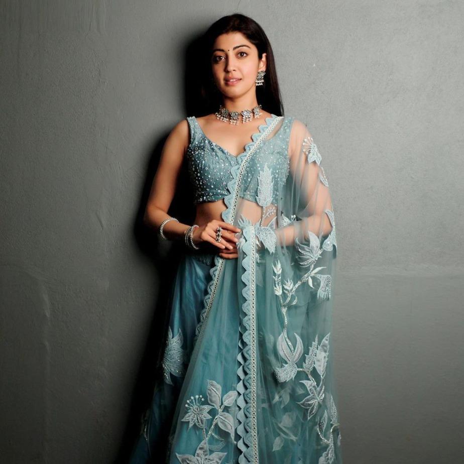 Pranita Subhash in Mishru lehenga