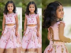 allu arjun daughter arha in pink pattu lehenga