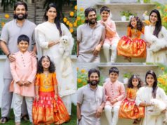 allu arjun family dussera photos