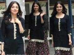 divya khosla kumar in black ethnic wear (1)