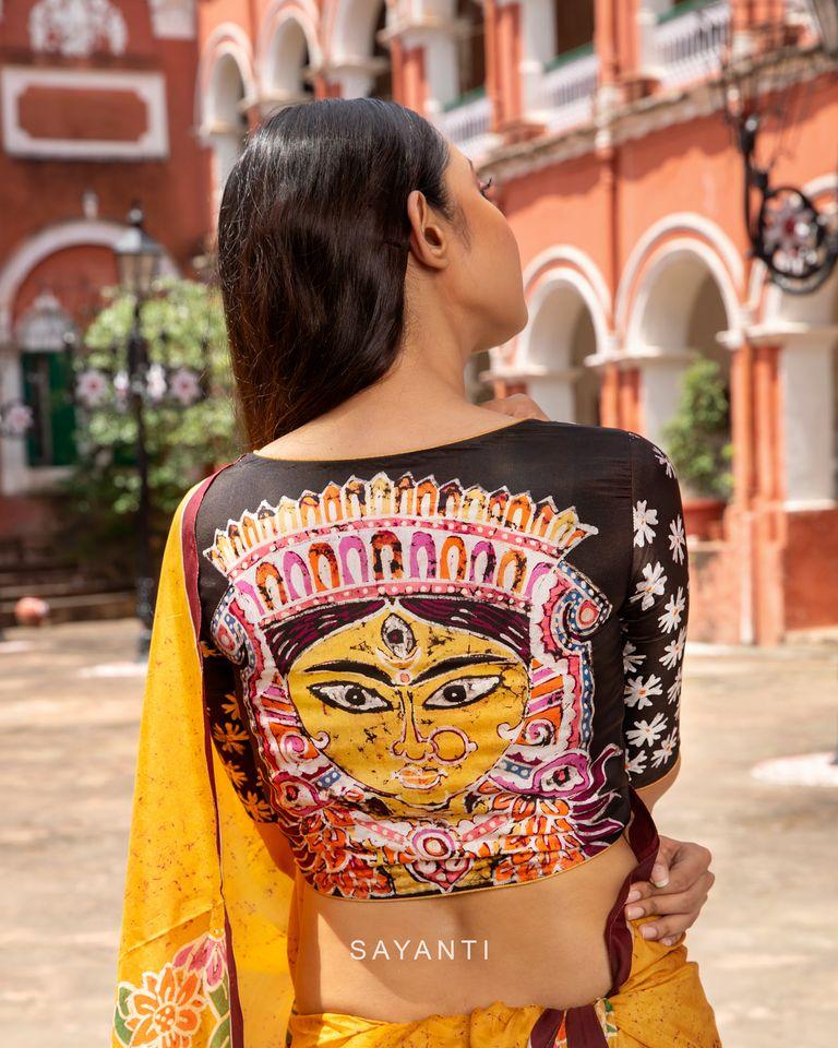 goddess durga blouse designs for durga pooja (14)