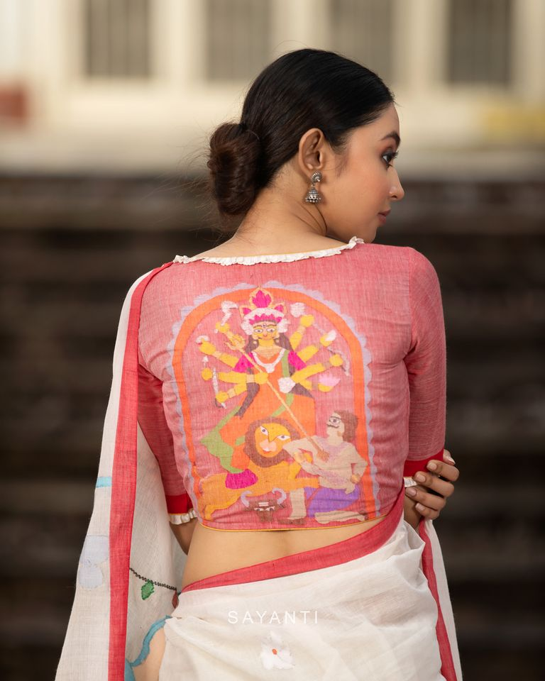 sayanti ghosh designer blouses durga pooja 2020