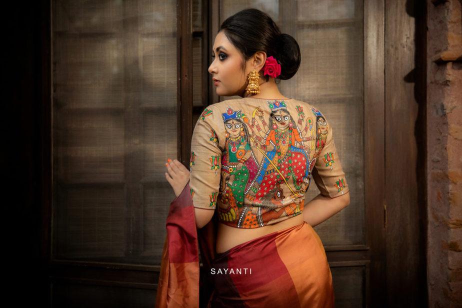goddess durga blouse designs for durga pooja (13)