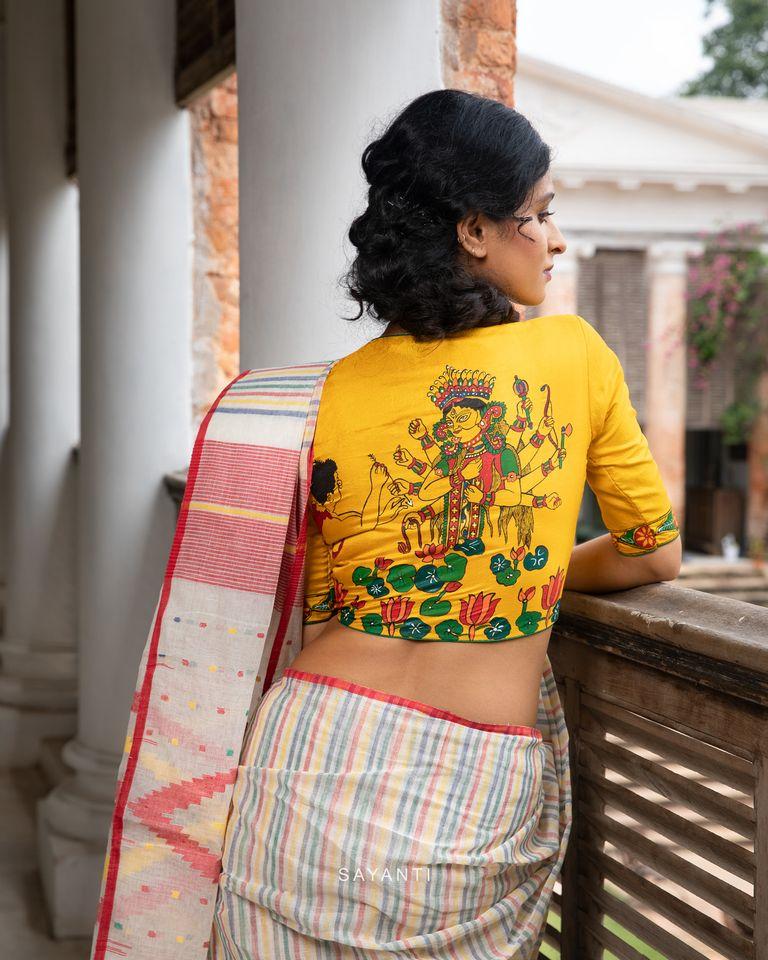 goddess durga blouse designs for durga pooja (2)