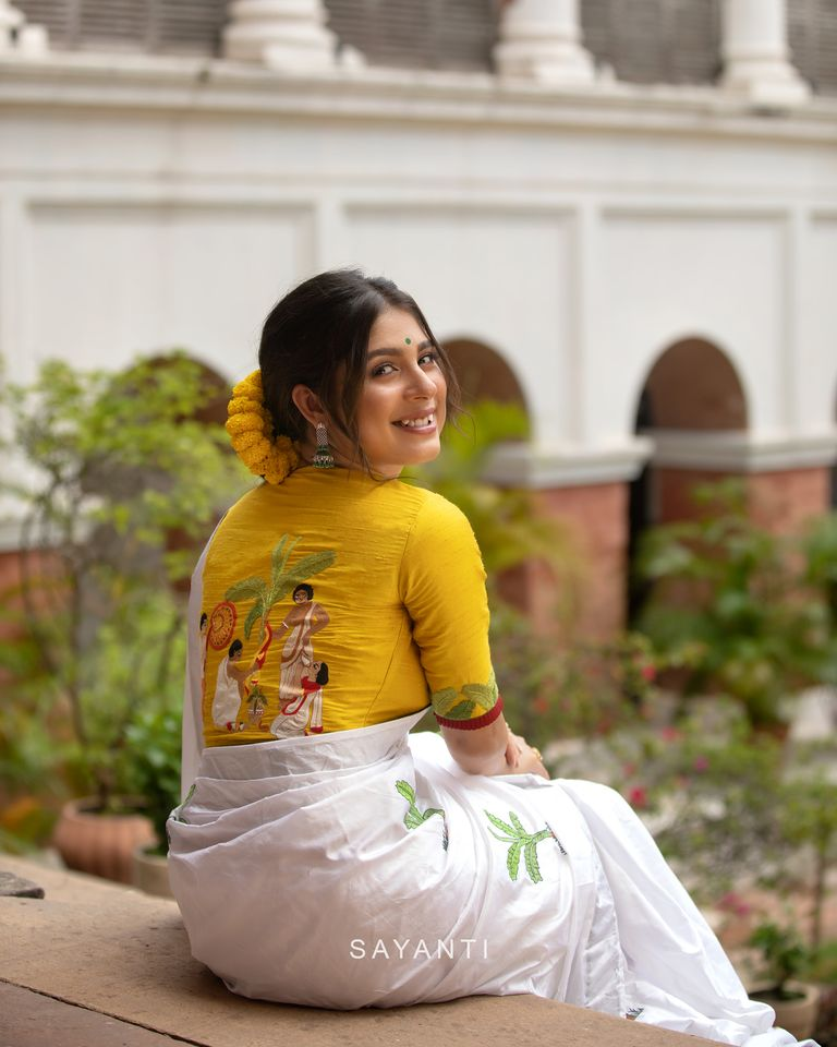 goddess durga blouse designs for durga pooja (5)