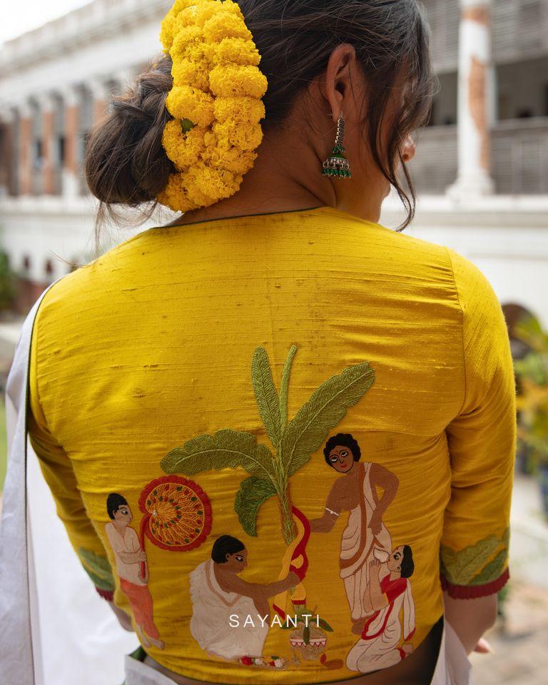 goddess durga blouse designs for durga pooja (6)
