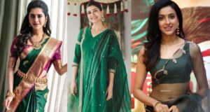 green color fashion trends south india