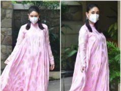 kareena kapoor spotted in masaba pink maxi dress