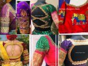 latest maggam work wedding saree blouse designs 2020