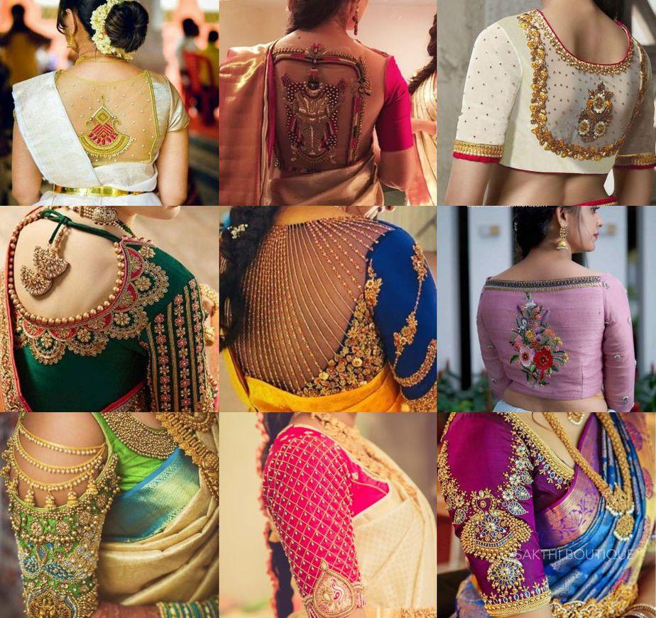 maggam work blouse designs 2020