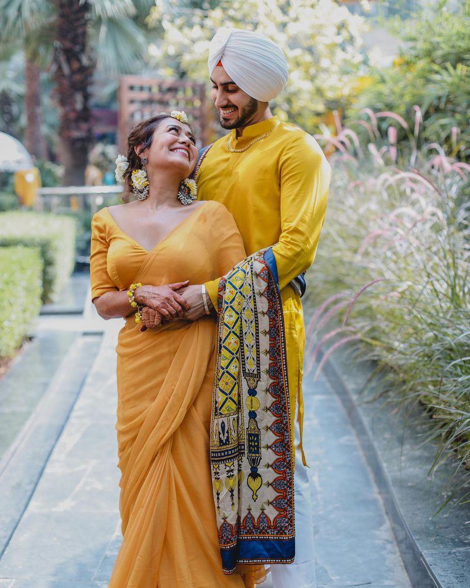 neha kakkar happy radiant haldi ceremony