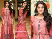 nidhhi agerwal in a brown kurta at kakateeya 19teen launch